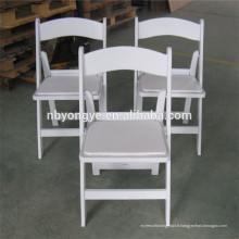 Chaise pliante en résine rembourrée wimbledon