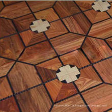 Revestimento de madeira sextavado da antiguidade da estratificação da antiguidade da decoração do quarto