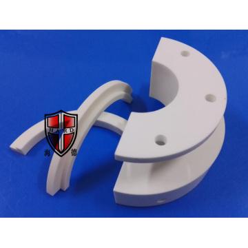 peças fazendo à máquina precisas cerâmicas da alumina do semicricle