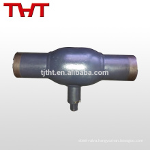 dn20 butt welding trunnion kits ball valve for heat preventer