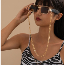 European and American Gold Silver Punk Cuban Hip Hop Double-Layer Chain Jewelry Accessories Rope Mask Chain Reading Glasses Sunglasses Chain Glasses Chain