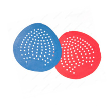 Disposable mat urinal screen multiple color