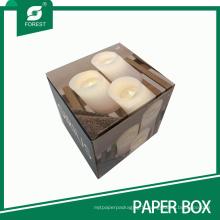 Boîte d'emballage de bougie ondulée à la main imprimée