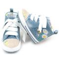Wholesale Cotton Laces Pre-walker Baby Sports Shoes