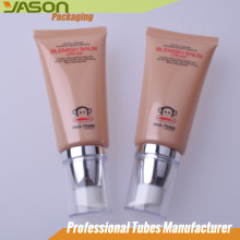 Emballage cosmétique clair Contenant en plastique solide Tube pour soins de la peau