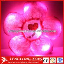 Горячая продажа симпатичный цветок Плюшевые светодиодные подушки