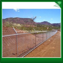 HDG chain link mesh fencing for CCTV protection