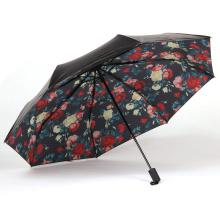 A17 paraguas plegable de paraguas de flores de 5 pliegues