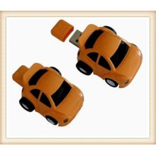Custom Logob Brown ABS Car Shape USB Flash Drive (EP054)