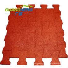 Outdoor Durable Playground Rubber Flooring Tile, Dog Bone Rubber Tile