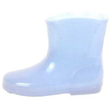 Light Blue Kid's Pvc Injection Boots