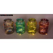 Decoración de muebles Artesanía de vidrio ligero con cadena de cobre LED de iluminación (9111)