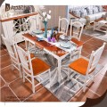 Wooden dinning room table and chairs/dining table designs with solid wood legs