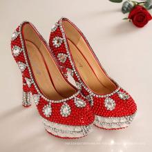 Zapatos de diamantes de tacón alto de la boda de moda (HCY02-1532)