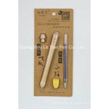 Caneta de madeira graciosa definir caneta gel caneta de rolo de madeira
