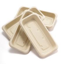 Premium brauner Einweg-Serviertablett aus Papier