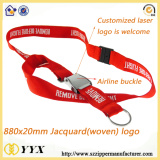 Customized woven logo jacquard lanyard with logo