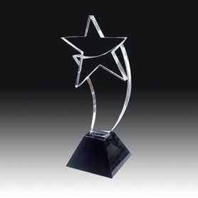 Hot sale new star shape crystal trophy for company souvenir