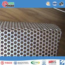 Tôle perforée galvanisée d'acier inoxydable