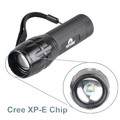 Q5 LED antorcha luz Focus Zoom lámpara Mini 300 Lumen linterna con pila AAA
