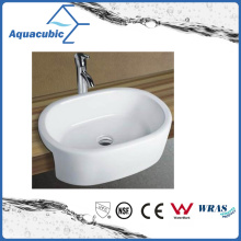 Lavatório de lavatório de lavatório de lavatório de lavatório de lavatório de cerâmica e armário de cerâmica (ACB8013)