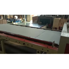 Double sides laminate machine of plaster board with automatic film cutting