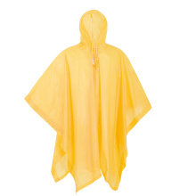 Poncho in plastica per adulti giallo in PVC