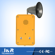 Auto Dial Phone, Waterproof Telephone Public Vandalproof Phone with Horn