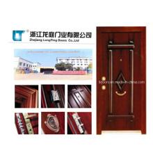 Blindado de aço de estilo turco de madeira porta LTK-006