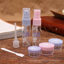 Kit de botellas de viaje cosmético del animal doméstico del paquete de la botella del animal doméstico del producto de tocador 15ml (PT08)