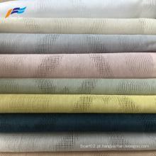 Tecido para cortina de linho voile jacquard de estilo natural
