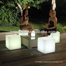30 cm rechargeable /multi color changing/waterproof/led light garden led seat lights
