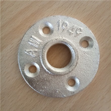 "3/4"" galvanized threaded malleable cast iron floor flange"