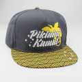 Stickerei-Logo Mode flache Krempe 5 Panel Snapback Cap