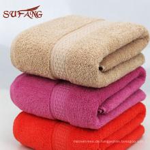 Hausgebrauch bunter Jacquard Satin Gang türkischer Baumwolle Badezimmer Handtuch-Set