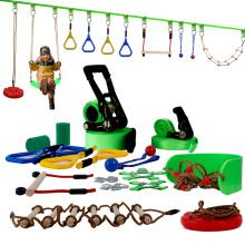 Conjunto de percurso de obstáculos para equipamentos de treinamento de diversão ao ar livre