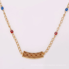 41932 accessoires de bijoux de mode en gros 18K délicat élégant style turc plaqué or bijoux collier