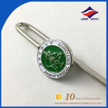 Die cast souvenir items nice design metal manufacturer bookmark