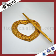 Resin Shape Heart Diamond Golden Curtain Clips For Curtain Decoration Buckle Hook