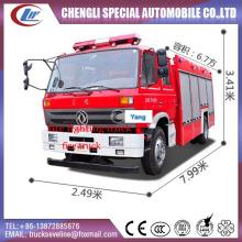 Dongfeng 6700 litros água tanque caminhão de combate a incêndio
