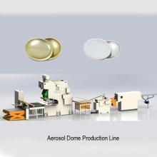 Ligne de production de canettes de cône de dôme de capuchon de pulvérisation d'aérosol