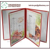 Popular menu cover cheap , plastic menu holder