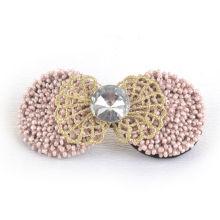 Cabelo jóias / grampo de cabelo / folha com contas, Pearl Barrette (XHB1423)