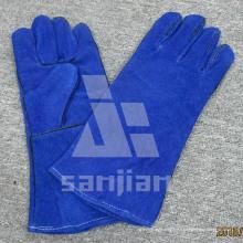 Gant de sécurité de soudage TIG en cuir de qualité ab / bc Full Palm