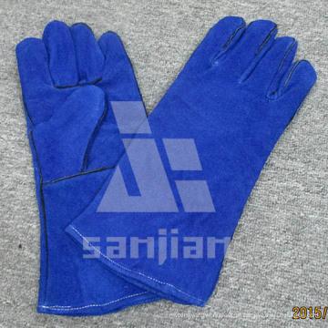Luva completa da segurança da soldadura de TIG da categoria de Ab / Bc do couro da separação da palma