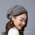 Wholesale fashion unisex leisure solid color knitted slouchy beanie hats
