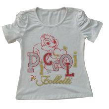 Venta al por mayor Kids Children Models Mouse Printing Girl camiseta diseño Sgt-030