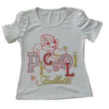 Wholesale Kids Children Models Mouse Printing Girl T-Shirt Design Sgt-030