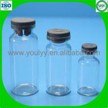 Flacon de verre tubulaire pharmaceutique transparent