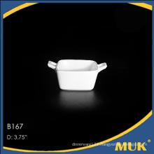 Hangzhou hotel new style square design porcelain soup bowl set